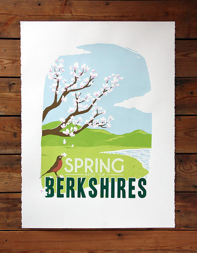 Poster about the Berkshires, New England, Spring