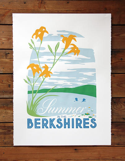 Poster about the Berkshires, New England, Winter