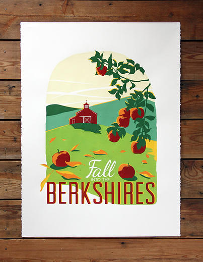 Poster about the Berkshires, new England, Fall