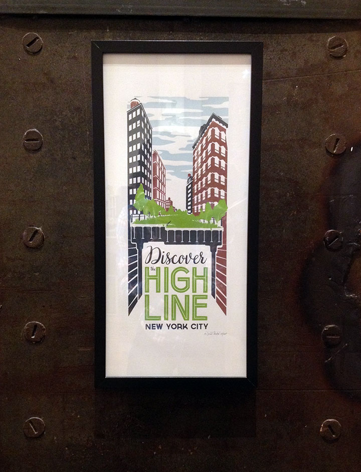 Poster of the High Line, NYC